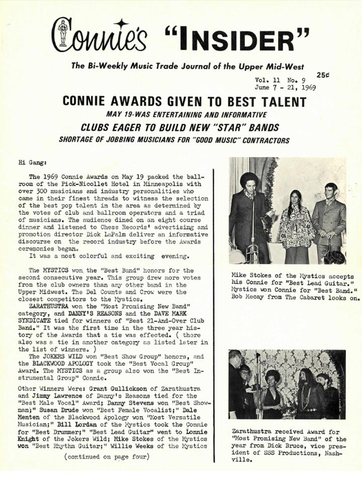 Nickel Revolution Salutes Connie's Insider-Issue June 7, 1969 (1/6)