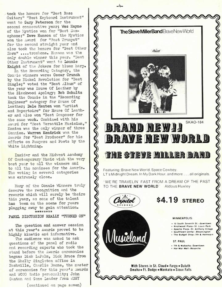 Nickel Revolution Salutes Connie's Insider-Issue June 7, 1969 (3/6)