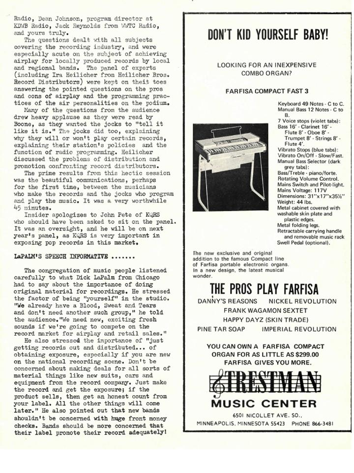 Nickel Revolution Salutes Connie's Insider-Issue June 7, 1969 (6/6)
